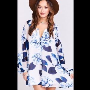 SMYM Jamie Tunic in Bouquet Blue Print 💕